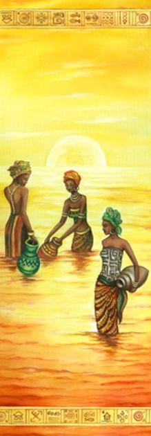 "Рисовая бумага для декупажа Stamperia DFS195L ""Африка, саванна, закат на реке""… African American Artwork, African Artwork, African Art Paintings, Black Girl Art, Black Women Art, Black Art, Afrique Art, Art Africain, Afro Art"