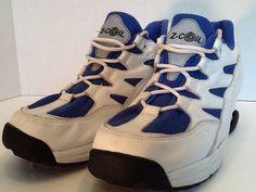 Mens Z Coil White Blue Leather Walking Comfort Balance Lace Up Shoes Sz 14 | eBay