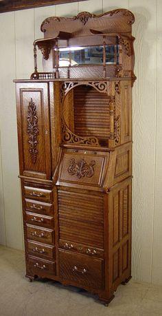 Harvard Co. Find Furniture, Unique Furniture, Furniture Design, Wooden Cabinets, Diy Cabinets, Victorian Furniture, Vintage Furniture, Steampunk Kitchen, Dental Cabinet