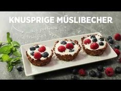 Knusprige Müslibecher  #video #stepbystep #awesome #enjoy #müsli #berries #joghurt #yummy #watch