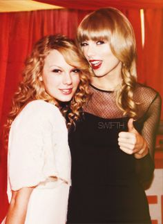 Old Taylor Swift and New Taylor Swift....I like the old one better.