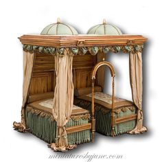 Handcrafted items for your Dollhouse. Miniatures artist June Clinkscales crafts exquisite,  one of a kind, furnishing for lavish miniature mansions.