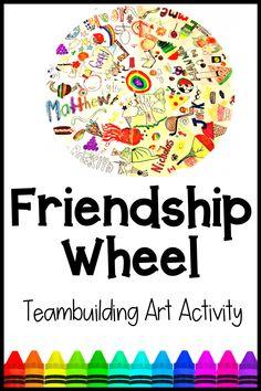 Friendship Crafts, Friendship Activities, Best Friendship, Friendship For Kids, Group Art Projects, Projects For Kids, Class Projects, Project Ideas, Art Activities For Kids