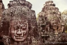 Angkor Thom: The Faces of South Gate & Bayon Temple Amazing Places On Earth, South Gate, Angkor Wat, First World, Cambodia, Travel Photos, Mount Rushmore, The Good Place, Temple