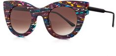 Pin for Later: The Ultimate Sunglasses Guide: 7 Trends, 60 Pairs, and Every Price  Thierry Lasry Limited Edition Divinity Cat-Eye Sunglasses, Multi ($500)