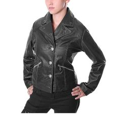 women classic biker style pure leather by customdesignmaster, $169.99