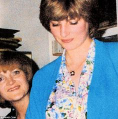 Rare photo of Diana in 1981 as a teaching assistant at the Young England nursery with teacher and very good friend Margaret Hodge