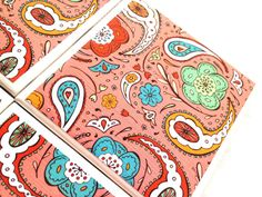 Coaster Ceramic Tile Coral Paisley Pink Drink by QueenOfDeTile