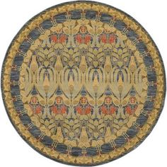 World Menagerie Fonciere Navy Blue Area Rug Rug Size: Round 8'