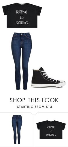 """Untitled #218"" by cruciangyul on Polyvore featuring Topshop and Converse"