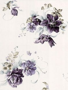 Floral watercolor hand-painted flower garden wallpaper background material tiled iPhone Wallpaper