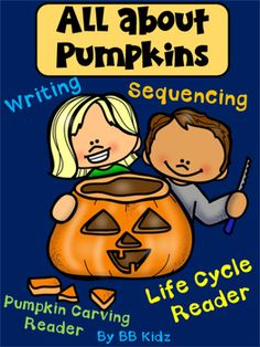 This is a fun addition to any pumpkin unit. Included are vocabulary cards to show how to carve a pumpkin. Also included are 2 emergent readers and a sequencing life cycle activity. By BB Kidz Halloween Activities, Autumn Activities, Pumpkin Life Cycle, Pumpkin Facts, Cat Safe Plants, Emergent Readers, Life Cycles, Vocabulary Cards, Kindergarten