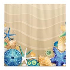 Our Coral Beach Shower Curtain Adds A Feel To Your Bathroom Croscill Product Curtains 474781 7958