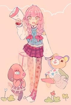 pyayaya:  i want to be my acnl villager and live a happy life in my town with my villagers wearing cute clothes - Animal Crossing