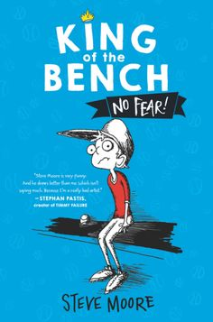 """King of the Bench by Steve Moore is out March 28th! From the nationally syndicated cartoonist of """"In the Bleachers"""" comes a new, highly illustrated middle grade series about Steve, who plays the same position in every sport: bench-warmer. Perfect for fans of Diary of a Wimpy Kid and Timmy Failure, King of the Bench is an ode to teammates, underdogs, and bench-warmers everywhere."""