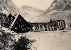 Destruction of bridges by German troops, August 1944, Hermillon railway bridge, Savoie, France. #WW2