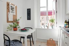 Inspiring Swedish Apartment - must have the super size clip board!