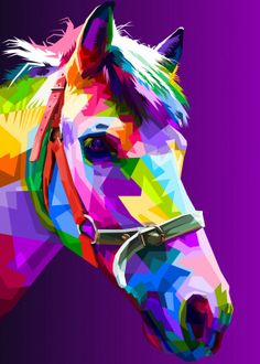 horse head on pop art by peri priatna Arte Pop, Horse Drawings, My Drawings, Pop Art Posters, Poster Prints, Easy Canvas Painting, Canvas Art, Poster Color Painting, Dog Pop Art