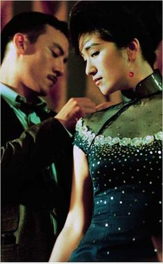 """ancient to modern Chinese costumes and exotic fashion. Hanfu and qipao dresses for cosplay. Chang Chen & Gong Li in """"Eros"""" by Wong Kar-Wai Gong Li, Shanghai Night, Old Shanghai, Jodie Foster, Chen, Ang Lee, Cinematic Photography, Festival Costumes, Cinema Movies"""