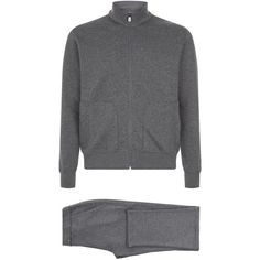 Corneliani Jersey Logo Tracksuit ($910) ❤ liked on Polyvore featuring men's fashion, men's clothing and men's activewear