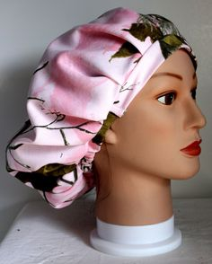 RealTree Pink Camo Bouffant Surgical Scrub Hat by duehringphotocc, $5.00 OMG getting after rn school!