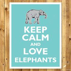 Elephant Decor Elephant Wall Art Elehant Nursery by WordBirdShop