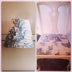 Lampshades and chair - gift for my ant :-)