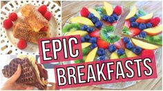 Breakfast. MY FAVORITE meal of the day! I am going to show you 3 AMAZING recipes that will blow you away!   1. Waffle Taco.  2. French Toast Rollups.  3. Breakfast Pizza!   Ready to learn how to make them? Let's do this! Full recipes on http://www.blogilates.com