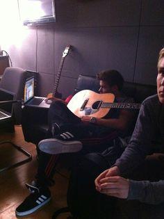 Liam at the studio