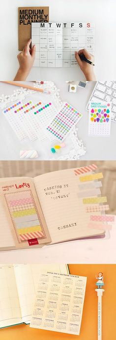What - check out this Scheduler Kit! This kit contains a clean Monthly Planner that can be started at any time of the year. It also has a colorful Date Sticker Set where you can tack on dates instead of writing them in on your own! Then there's a Round Pocket Sticker where you can create a storage space within the planner(!!) for things like stickers, notes, receipts, and more. This kit is perfect for students, teachers, professionals, and for gifting too! Learn more at mochithings.com!