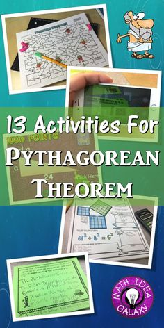 Engaging activities and resources to use when teaching about the Pythagorean Theorem. Includes activities for bill ringers, math stations, additional practice, and more.