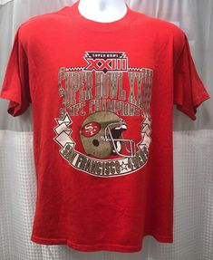 Vintage 1988 San Francisco 49ers NFC Champion Super Bowl XXIII Single  Stitch USA d2c0013cd