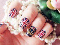 American flag manicure