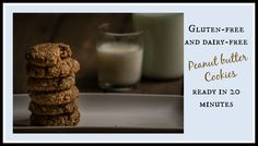 Chewy gluten-free and dairy-free peanut butter cookies, ready in 20 minutes.