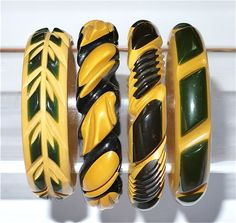 Bakelite, layered and carved