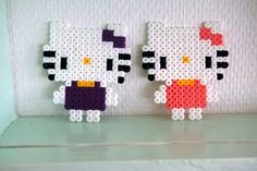 Hello Kitty´s hama beads by SIRIANNA