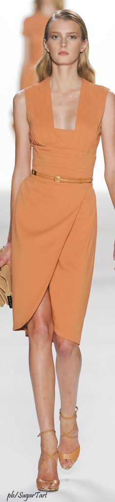 Elie Saab peach dress women fashion outfit clothing style apparel @roressclothes closet ideas
