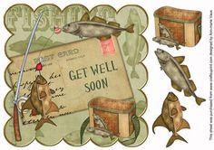 Masculine card embelishment - get well soon