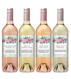 New Mommy Wine Label Set  New Mom Gift  Baby Shower by iCustomWine