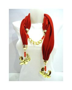 Red Scarf  Women Accessory Jersey Scarf   2012 Spring by bytugce, $29.00