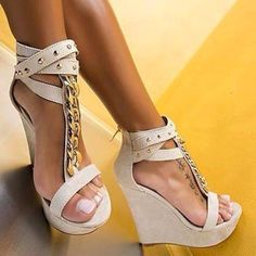 Buy fashion wedges shoes from shoespie. It offers you some cheap wedge shoes of different styles:printed wedge heels, strappy wedges boots, summer wedge sandals are standing for good quality. Page 3 Wedge Sandals, Wedge Shoes, Shoes Heels, Cute Shoes, Me Too Shoes, Heeled Boots, Shoe Boots, Frauen In High Heels, Next Shoes