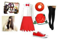 """outfit inspired by Ib"" by yandere-chan1 on Polyvore featuring See by Chloé, Miu Miu, 40 Colori, Converse and Emanuel Ungaro"