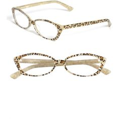 Corinne McCormack Cat's Eye Reading Glasses ($58) ❤ liked on Polyvore