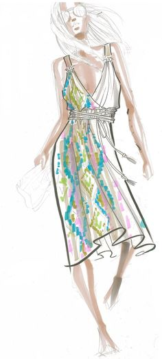 Chavelle Dress Sketch. Love the sketch? You should see the really thing!