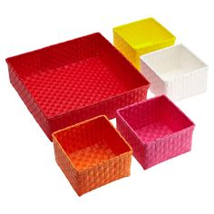 Cute, colorful storage from The Container Store