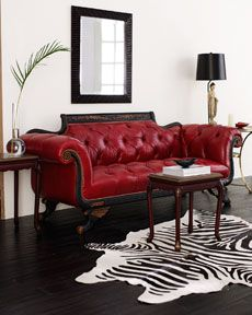 Duncan Phyfe sofa with red leather!