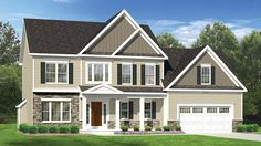 This plan would be a welcome addition to any community with it's use of stone, varied siding and striking front porch. The first floor has an open concept living area with an additional private study and garage entry with walk-in closet. Upstairs, in addition to the master suite and two additional bedrooms, there is an optional bonus room over the garage.