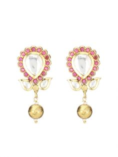 Ruby Stonned Gold Plated Earrings #Ekatrra #Ruby #Stone #Gold #Earring #Fashionwear #womenshopping #Onlineshopping #Trendy #Follow #Fashionable #Love #Gift #Accessories #Jewellery #Studs Shop Now: http://bit.ly/1Rpwtwj