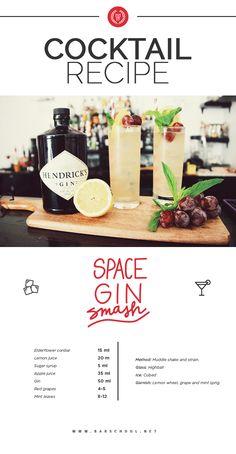 #SpaceGinSmash #Cocktail #Bartender #EBS
