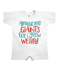 Loving this White 'Amuse Me Giants' Bodysuit - Infant on #zulily! #zulilyfinds
